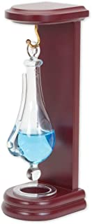 Bits and Pieces - Desktop Weather Glass Liquid Barometer - Classic Home Weather Predictor