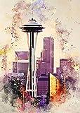 JIANHEGE Seattle, Leinwand-Kunst-Poster und Wandkunst,