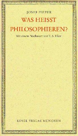Was heisst Philosophieren?. Vier Vorlesungen