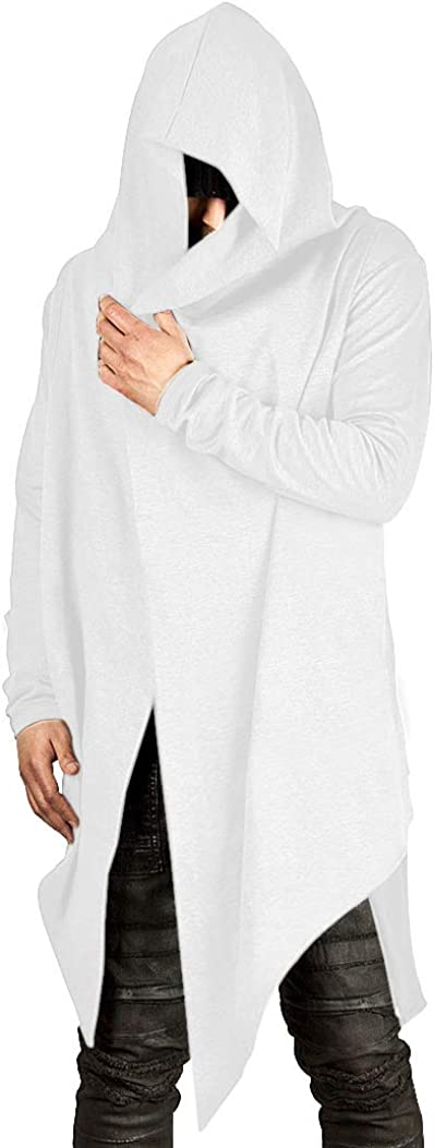 Poriff Mens Draped Cardigans Long Hooded Max 77% Ranking TOP19 OFF with Lon Pockets Sleeve