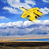 Remote Control Aircraft Plane, 2.4GHz 3.5CH RC Plane Ready to Fly, Gliding Aircraft Model Easy to Fly Durable Styrofoam RC Plane for Kids Beginner, Best Boys Girls Christmas Birthday Gift (Yellow)