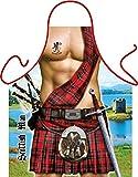 Goodman Design  Witzige Schürze mit Motiv - Scottish Man, Schotte, Schottenrock - Grillschürze,...