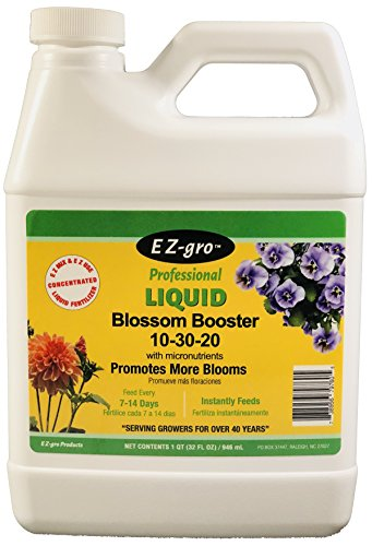 Flower Food by EZ-gro   10-30-20 Blossom Booster is a Plant Food for all Blooming Plants   This Plant Fertilizer is both E Z to MIx and E Z to Use because it is a Liquid Plant Food