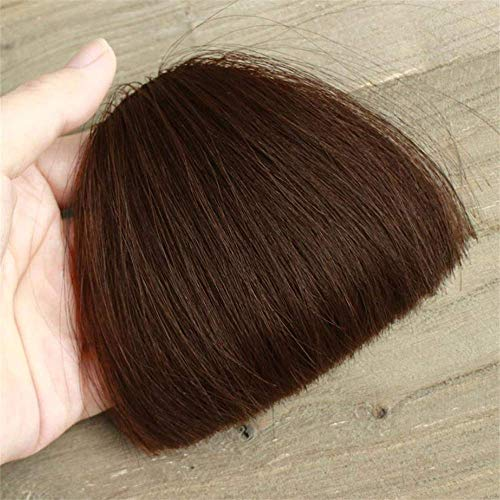 YaPin Perruques Frange Courte pièce de Perruque Vrais Cheveux nettoie soigneusement la Main Pure au Crochet Cheveux réalistes Cheveux Mode modifiable personnalité Style de Cheveux