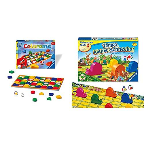 Ravensburger 24921 - Colorama - Zuordnungsspiel für die Kleinen & Kinderspiel Tempo kleine Schnecke, Das spannende Schneckenrennen, Brettspiel und Gesellschaftsspiel für Mädchen und Jungen