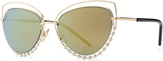 Women's Fashion Trend Sunglasses Metal Large Frame HD Lens UV Protection,C4