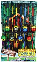 Gibson Originals Closed Face Bait Cast Fishing Pole Adjustable Lighter, Child Resistant and Refillable, Single Pole, Colors Vary