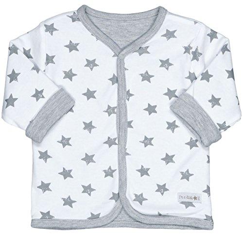 Unisex Baby Wendejacke | Organic Cotton Bio-Baumwolle | Grey Star Größe 62 | Basic Erstausstattung