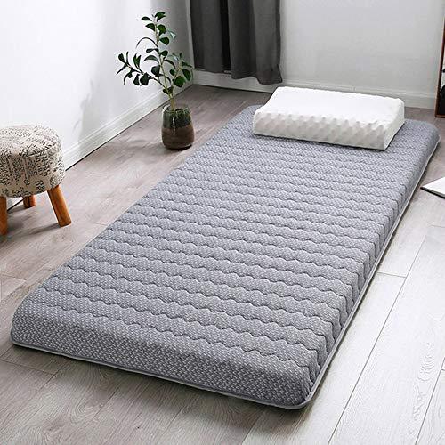 LBYLY Single Mattress Lamb Velvet Mattress Natural Wool Mattress Topper,1.5x1.9m-Grey