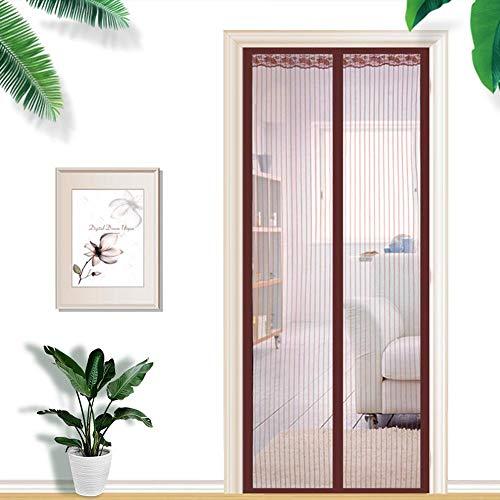 En verano, la mosquitera, la mosquitera y la cortina antimosquitos cerrarán automáticamente la mosquitera de malla, la pantalla de la puerta de la cortina de la puerta antimosquitos A1 W120xH210