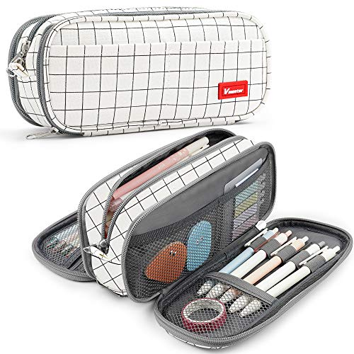 Estuche de lápices Gran capacidad Soporte para bolígrafos Bolsa Caja Maquillaje Bolsa...