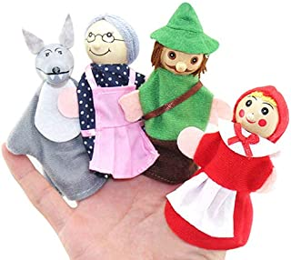 khkadiwb Toys Repair Tool Dolls & Stuffed ToysLittle Red Riding Hood and Wolf Fairy Story Play Game Finger Puppets Toys Set