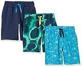 Spotted Zebra Knit Jersey Play Shorts Pantalones Cortos, 3-Pack Tie-Dye Hippo, L