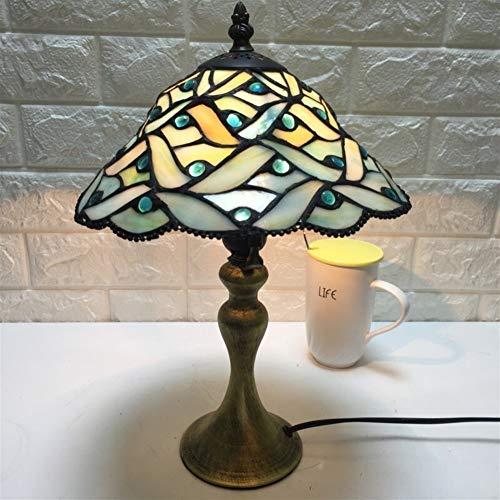 Kristall Kronleuchter LED Wandlampe Tischlampe Tiffany-Lampen-Gelb Hexagon Buntglas-End Kaffeetischleuchte Breite for Wohnzimmer Antike Schreibtisch neben Bedroom Lampe Set Tischschreibtischlampen-Lic