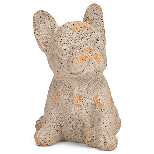 French Bulldog Tan and Orange 5.75 Inches Polyresin Outdoor Garden Statue