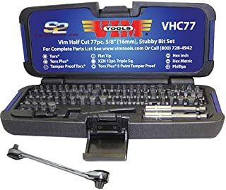 Vim Tools VHC77 '77-Piece' Half Cut Stubby Bit Set