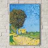 FGVB Avenue at Arles with Houses (1888) de Vincent Van Gogh Imagen de póster de Lienzo Muebles Arte ...
