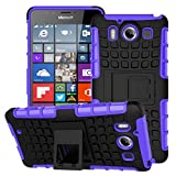 Nokia Lumia 950 Case Dual Layer Protection Shockproof Cover Hybrid Rugged Hard Shell Soft Cover with Kickstand Heavy Duty Hard Back 5.2'