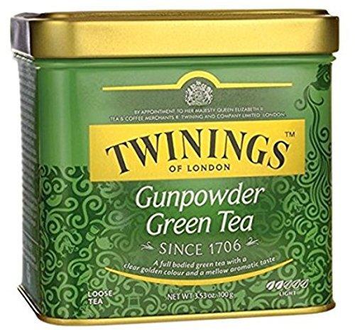 Twinings of London Loose Gunpowder Green Tea, 3.53 Ounce Tin