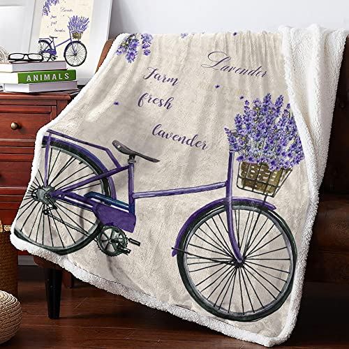 Mantas para Sofa 150x200 cm Bicicleta, Mantas para Cama de 90 Infantil - Manta Pelo de Franela Transpirable Hipoalérgica, para Hogar Oficina Viaje