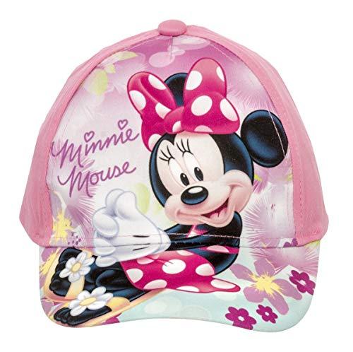 Minnie Maus Kappe Cap Cappy für Kinder in Rosa/Türkis (54, Rosa)