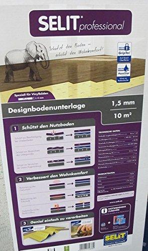 SELIT Professional 1,5mm,Vinyl-Designboden-Unterlage. Trittschalldämmung Baugleich mit Selitbloc Vinyl-/Designbodenunterlage