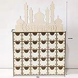 TCM-KE Calendario de adviento de madera Eid Mubarak Ramadán