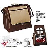 Montichelvo Montichelvo Pr Picnic Cooler Bag B Brown Bolsa Escolar, 35 cm, Multicolor (Multicolour)