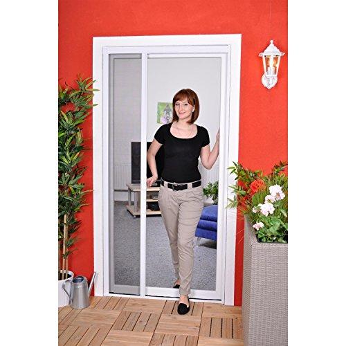 Slim Rollo - Fliegengitter für Tür als Rollo - Insektenschutzrollo Fliegengitterrollo Smart - 125 x 220 cm (weiß)