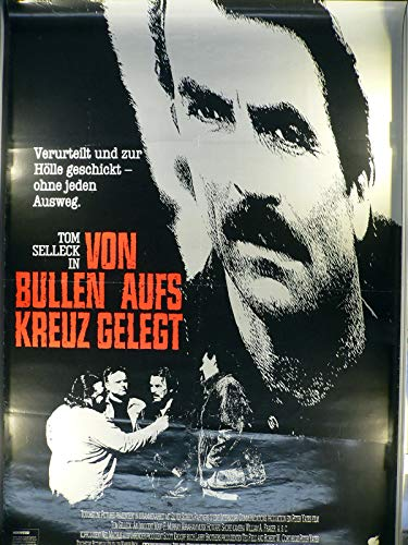Von Bullen auf Kreuz gelegt - Tom Selleck - Filmposter 120x80cm gefaltet