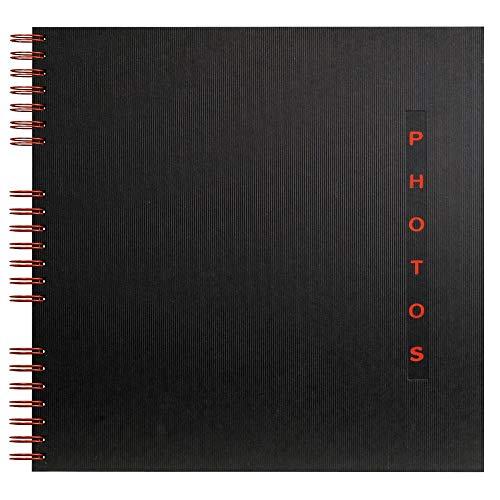 Exacompta 16921E Fotoalbum Design, Spiralbindung, 50 schwarze Seiten, 32 x 32 cm, 1 Stück, schwarz