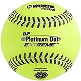 Worth 12' BP Platinum Dot Extreme Batting Practice Softballs, Box of 12