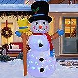 panthem Muñeco de nieve hinchable de 120 cm, con luces LED giratorias, iluminación y ventilador, iluminación de Navidad, decoración de jardín, patio, salón, balcón, decoración de exterior