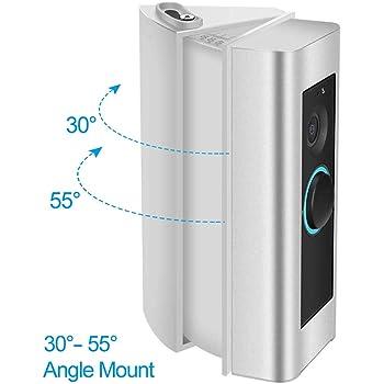 KIMILAR Angle Mount for Ring Doorbell//Ring Doorbell 2 30 to 55 Degree