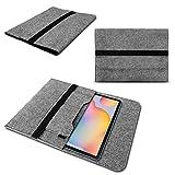 Tablet Schutzhülle für Samsung Galaxy Tab S7 Plus/FE 5G Hülle aus Filz mit Innentaschen Sleeve Tasche Cover 12,4 Zoll Notebook Hülle, Farbe:Grau