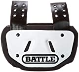 Battle Sports White Back Plate - Rear Protector Lower Back Pads for Football Players - Adult