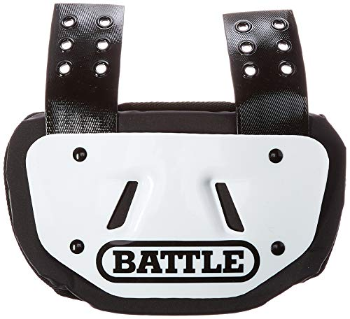 Battle Men's Football Bone Back Plate, White, Adult