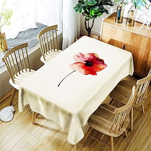 XXDD Mantel Impermeable con Estampado de Flores de Ciervo, Mantel Rectangular Lavable a Prueba de Polvo, Mantel Lavable A9 140x160cm