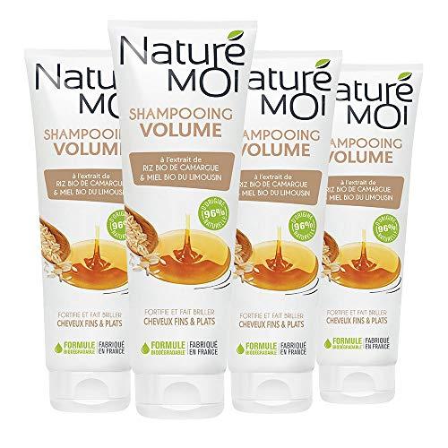 puissant Naturé Moi – Shampooing volume à l'extrait de riz bio de Camargue et au miel bio du Limousin – Pour…