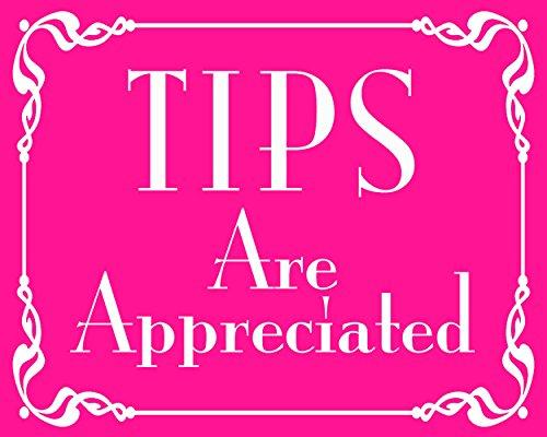 American Vinyl Pink Tips are Appreciated Sticker (jar Cafe bar Bartender Female Girl)