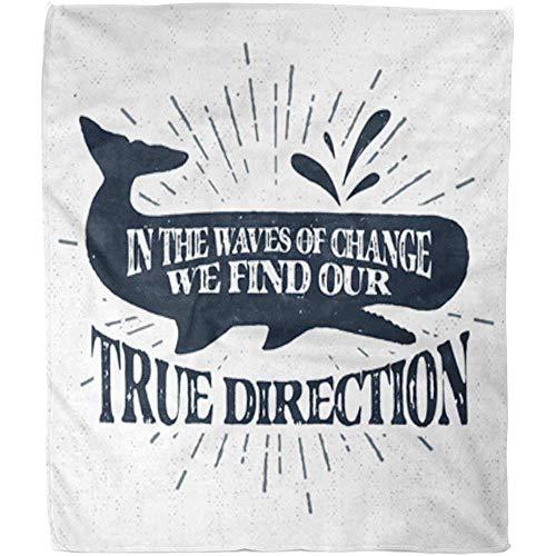 Fleece deken vintage label retro badge sperma walvis de golven van verandering warm deken bank zacht gooien deken fuzzy bed hotel fleece deken 102x127Cm kantoor woonkamer