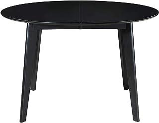 Miliboo Table à Manger Extensible Ronde Noire L120-150 cm Leena