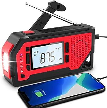 Funanasun Noaa Emergency Solar Weather Radio with 1W Flashlight