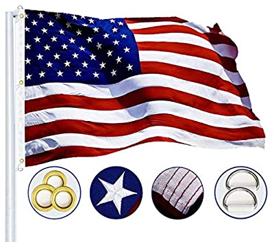 G128 - American Flag | 6x10 feet | Heavy Duty Spun Polyester 220GSM - Embroidered Stars, Sewn Stripes, Tough, Durable, Indoor/Outdoor, Vibrant Colors