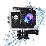 Action Hero 4K 12M Sports Camera 170 Degree Wide Angle 30m Waterproof WiFi Connection for Indoor and Outdoor Activities with Mounting Accessories