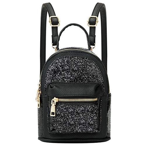 mini bags SEALINF Women Girl Bling Mini Backpack Convertible Shoulder Cross Bags Purse
