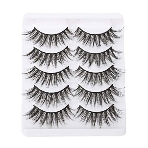 3D 5 Paare Falsche Wimpern, Mink Soft And Thick False Eyelashes, 3D Long Thick Curly Dramatic Natural of False Eyelash,5 Pairs (2#)