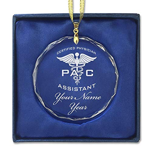 LaserGram Christmas Ornament, PA-C Certified Physician Assistant, Personalized Engraving Included (Round Shape)