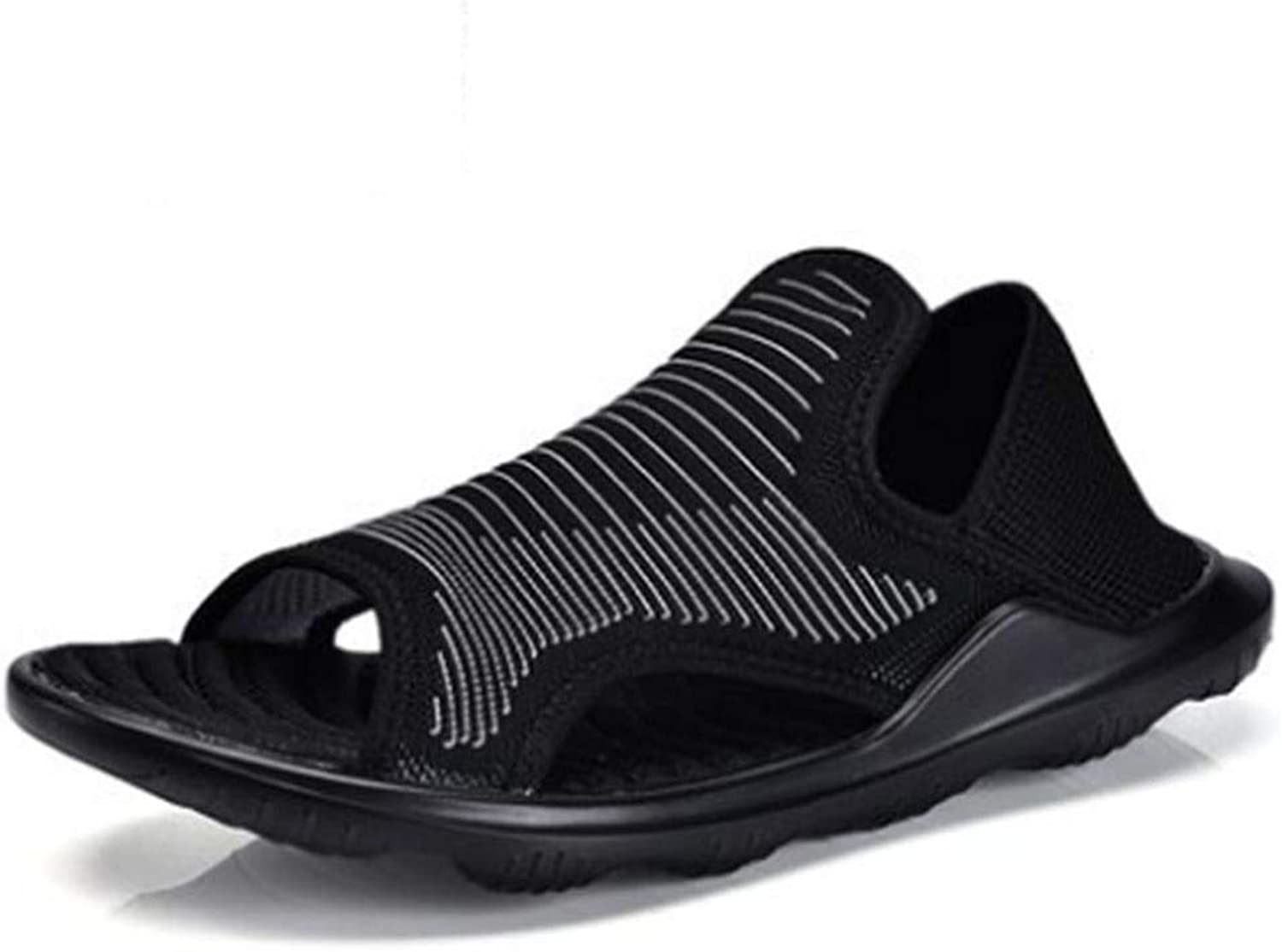 Fuxitoggo Beach shoes Men's Mesh Breathable Outdoor Sandals Lightweight Comfort Slippers (color   UK 6.5, Size   White)