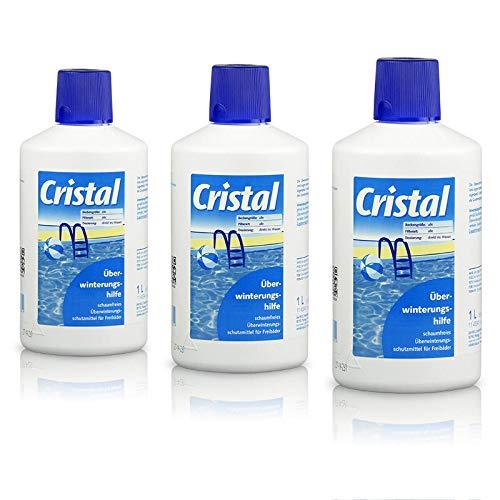 Cristal Überwinterungshilfe 3,0 l/Hochwirksames Wintermittel für alle gefüllten Freibäder Pool Schwimmbecken